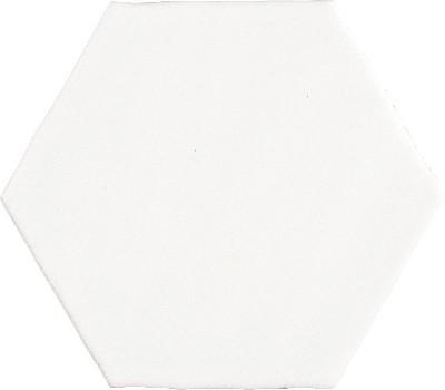 Hexagon Rustic Blanco Mate
